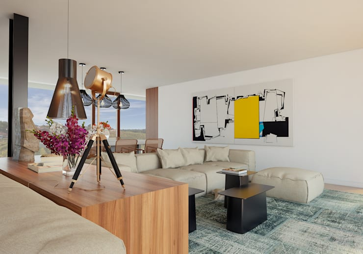 غرفة المعيشة تنفيذ José Tiago Rosa