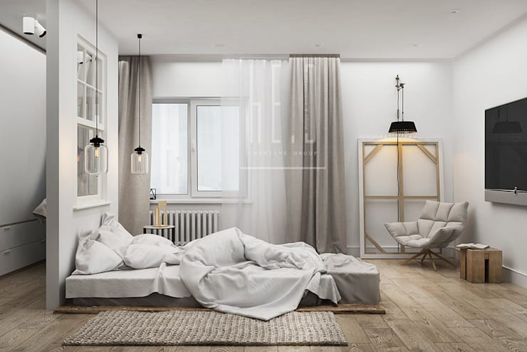 minimalistic Bedroom by he.d group