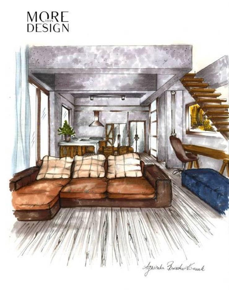 Loft design: styl , w kategorii  zaprojektowany przez More Than Design
