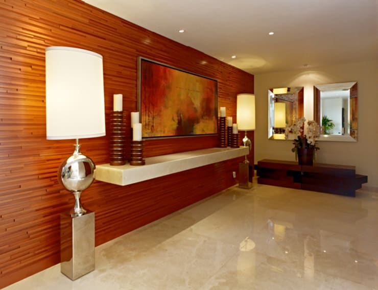 Corridor, hallway & stairs by VICTORIA PLASENCIA INTERIORISMO