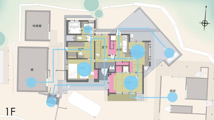 コンセプト「道草収納」: 優人舎一級建築士事務所が手掛けた家です。
