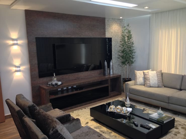 moderne Wohnzimmer von Ágape Arquitetos Associados