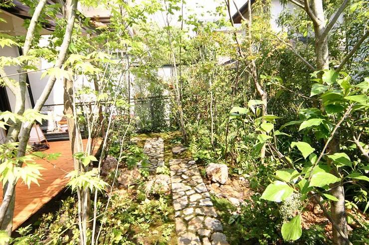 延段と流れ: 庭 遊庵が手掛けた庭です。,
