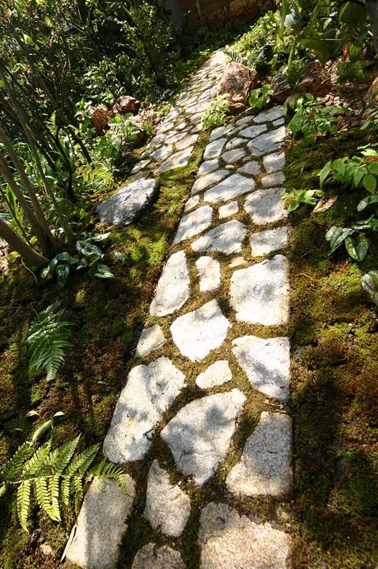 苔目地の延段: 庭 遊庵が手掛けた庭です。,