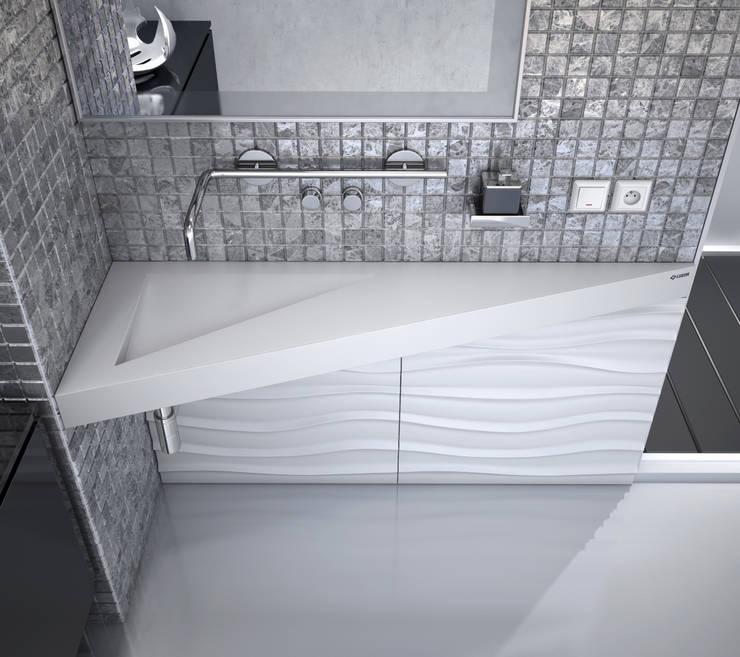 Nowoczesna łazienka od Luxum: styl , w kategorii Łazienka zaprojektowany przez Luxum