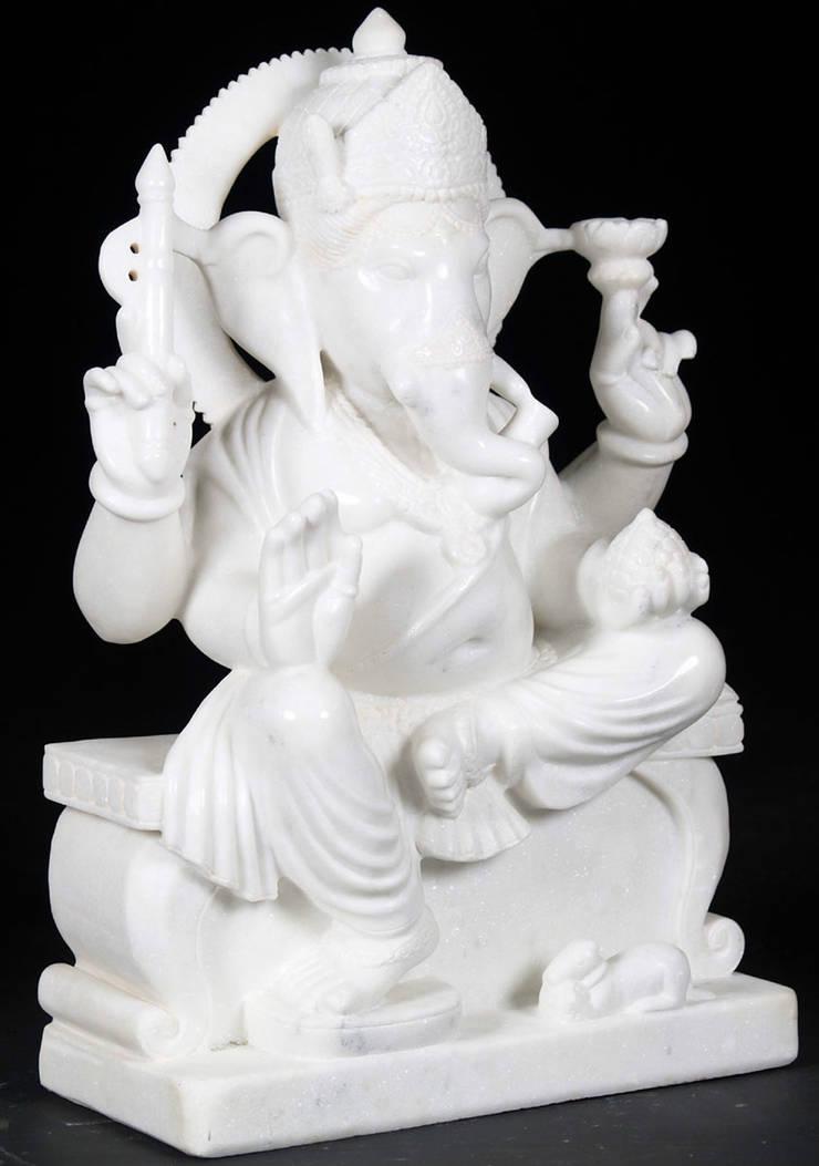 White Marble Ganesha:  Artwork by Vinod Murti Museum