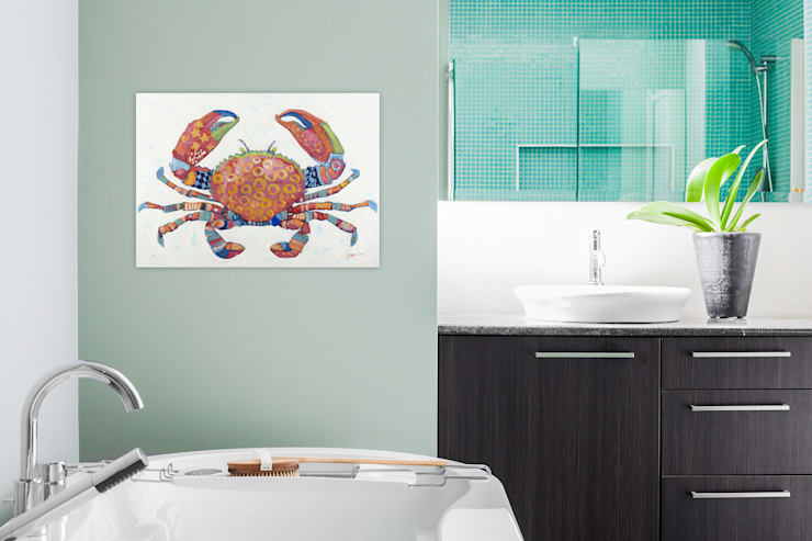 Gemälde & Wandbilder für das Badezimmer von KUNSTLOFT | homify