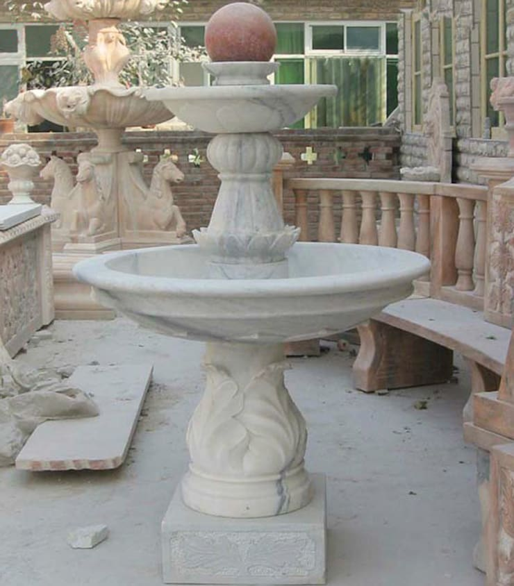 Marble Fountains: modern Garden by Vinod Murti Museum