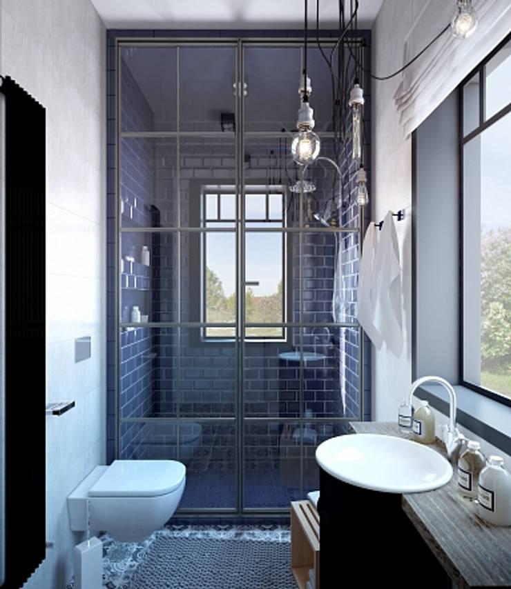 Загородный дом: Ванные комнаты в . Автор – Студия братьев Жилиных