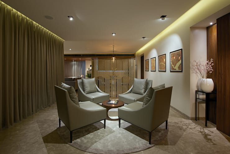 CE Apartment : modern Living room by KdnD Studio LLP