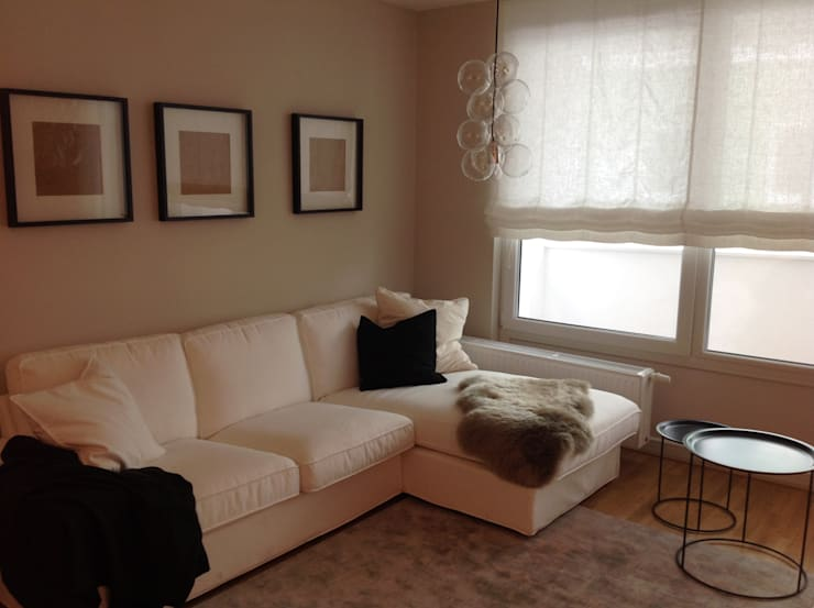 Wohnbereich:  Wohnzimmer von SIEGL INTERIOR DESIGNS