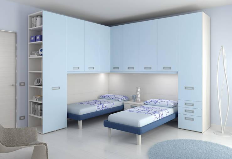 Soluzione ponte KP111: Camera da letto in stile in stile Moderno di Moretti Compact