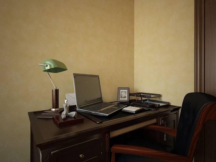 ПРИРОДНЫЕ СОСТАВЛЯЮЩИЕ: Рабочие кабинеты в . Автор – Дизайн студия Алёны Чекалиной