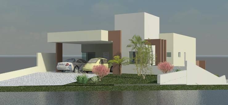 Residência Contemporânea: Casas  por Henrique Thomaz Arquitetura e Interiores