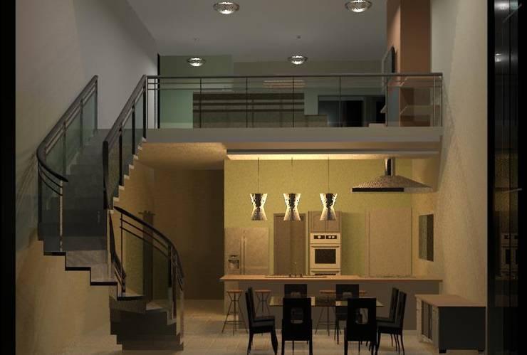 Residência Contemporânea: Cozinhas  por Henrique Thomaz Arquitetura e Interiores