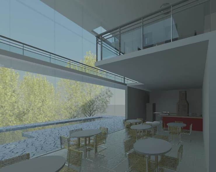 Espaço Goumet: Salas de jantar  por Henrique Thomaz Arquitetura e Interiores
