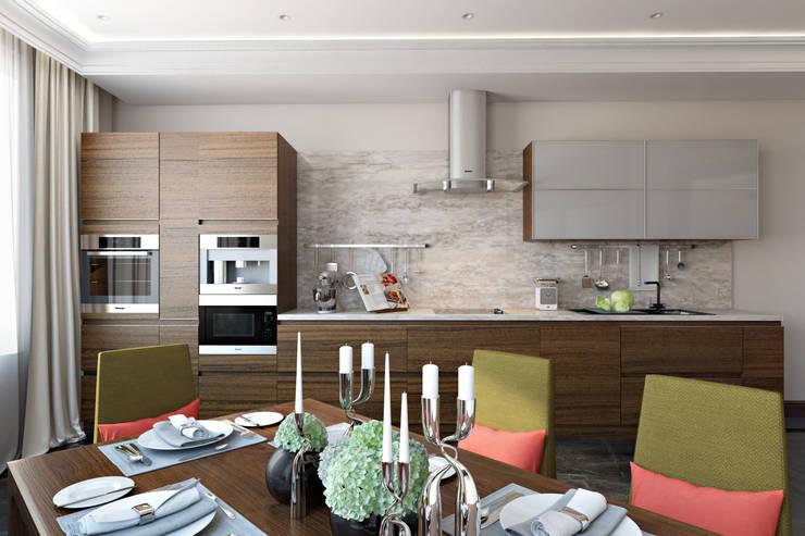 Кухня в стиле минимализм: Кухни в . Автор – СВЕТЛАНА АГАПОВА ДИЗАЙН ИНТЕРЬЕРА,