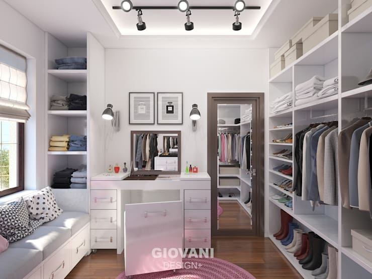 Vestidores y closets de estilo minimalista por Giovani Design Studio