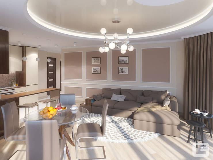 Панорамная мечта. Гостиная: Гостиная в . Автор – Giovani Design Studio, Эклектичный