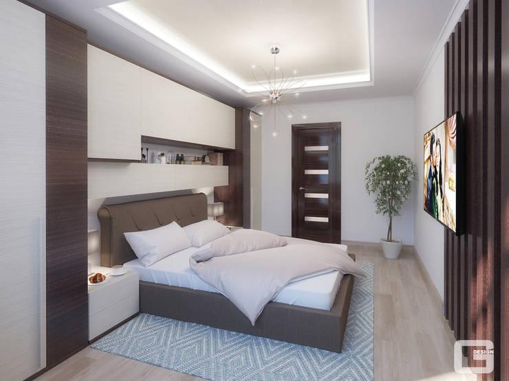 Панорамная мечта. Спальня: Спальни в . Автор – Giovani Design Studio, Эклектичный