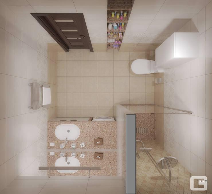 Панорамная мечта. Санузел: Ванные комнаты в . Автор – Giovani Design Studio, Эклектичный