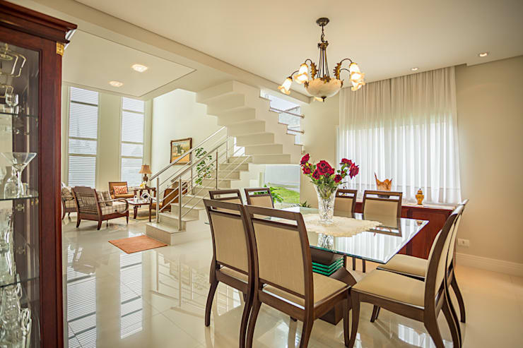 RRBT: Salas de jantar  por Angelica Pecego Arquitetura