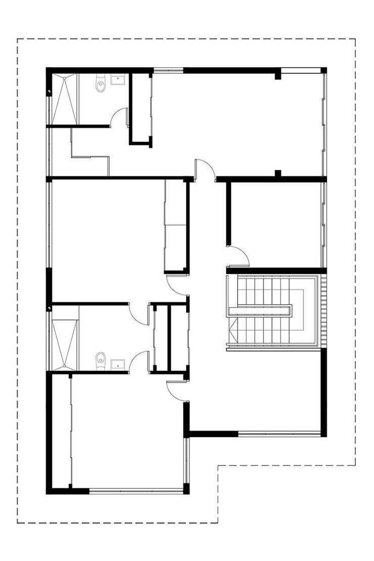Apartamento Blanco y Negro:  de estilo  por CENTRAL ARQUITECTURA
