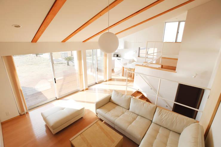 内房の家: 細江英俊建築設計事務所が手掛けたリビングです。