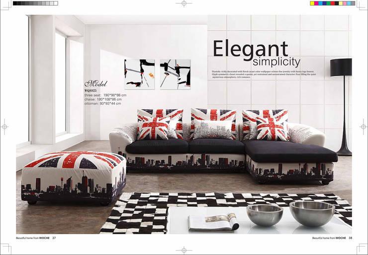 Gllamor fabric sofa:  Bedroom by Gllamor