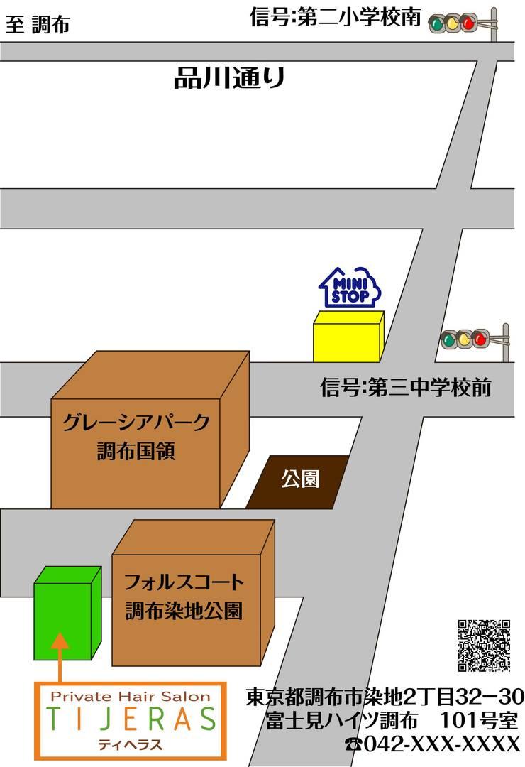 案内用地図: モノマ建築設計事務所が手掛けたです。