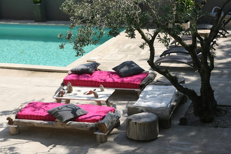 terrasse: Balcon, Veranda & Terrasse de style de style Méditerranéen par CORO furniture