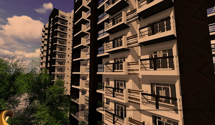 Apartment Building Design:  Houses by Creative Curve
