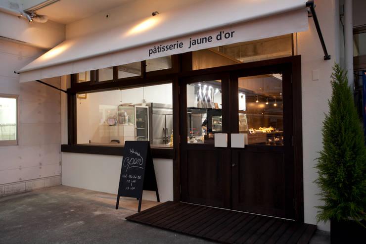 Patisserie jaune d'or (ジョンヌドール): design work 五感+が手掛けた商業空間です。