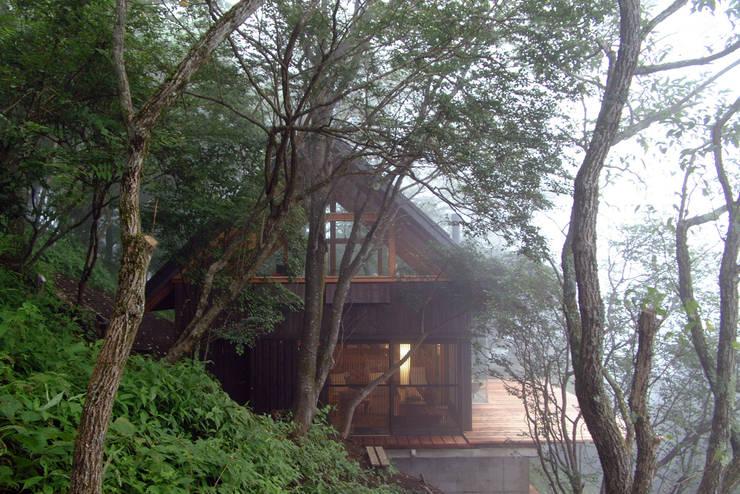 南側外観: 樋口善信建築計画事務所が手掛けた家です。