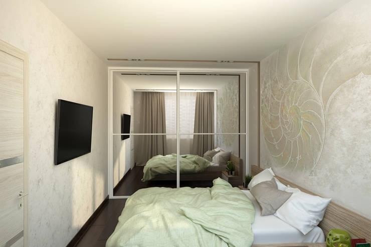 Квартира для молодой семьи: Спальни в . Автор – Ирина Альсмит