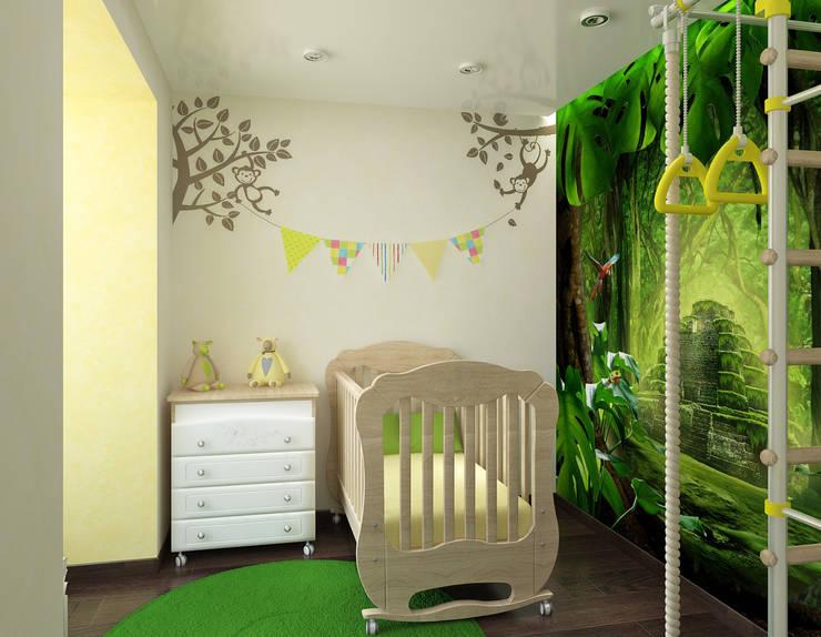 Квартира для молодой семьи: Детские комнаты в . Автор – Ирина Альсмит