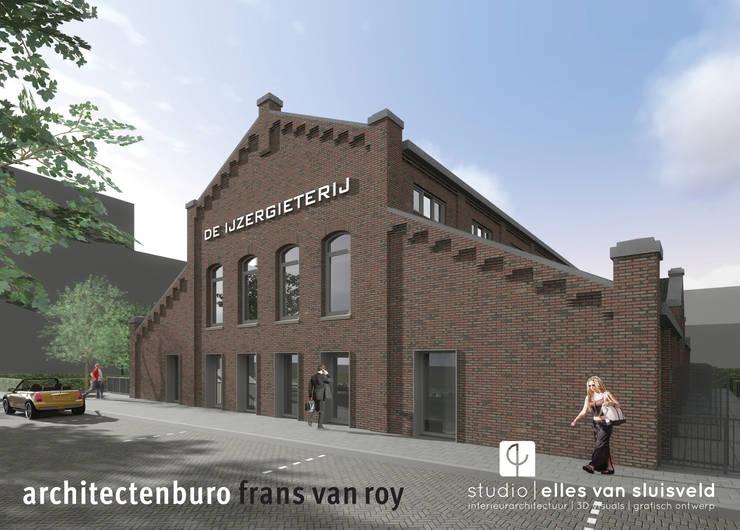 wonen in de ijzergieterij:  Huizen door architectenburo frans van roy