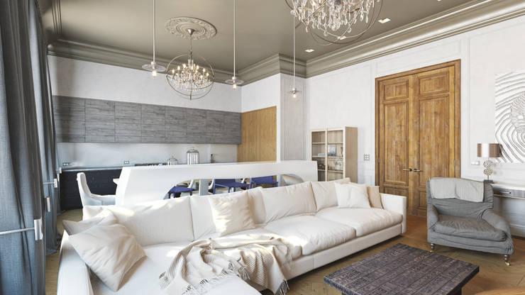 Квартира на Пречистенке: Гостиная в . Автор – FAOMI,