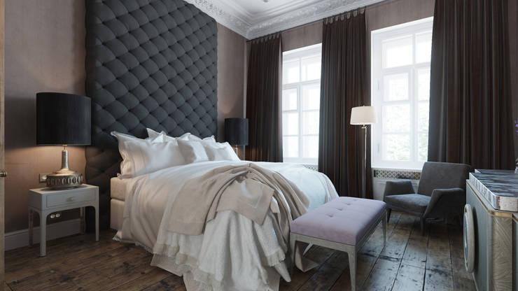 Квартира на Пречистенке: Спальни в . Автор – FAOMI,
