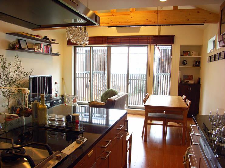 葛飾の住宅: ㈱姫松建築設計事務所が手掛けたキッチンです。