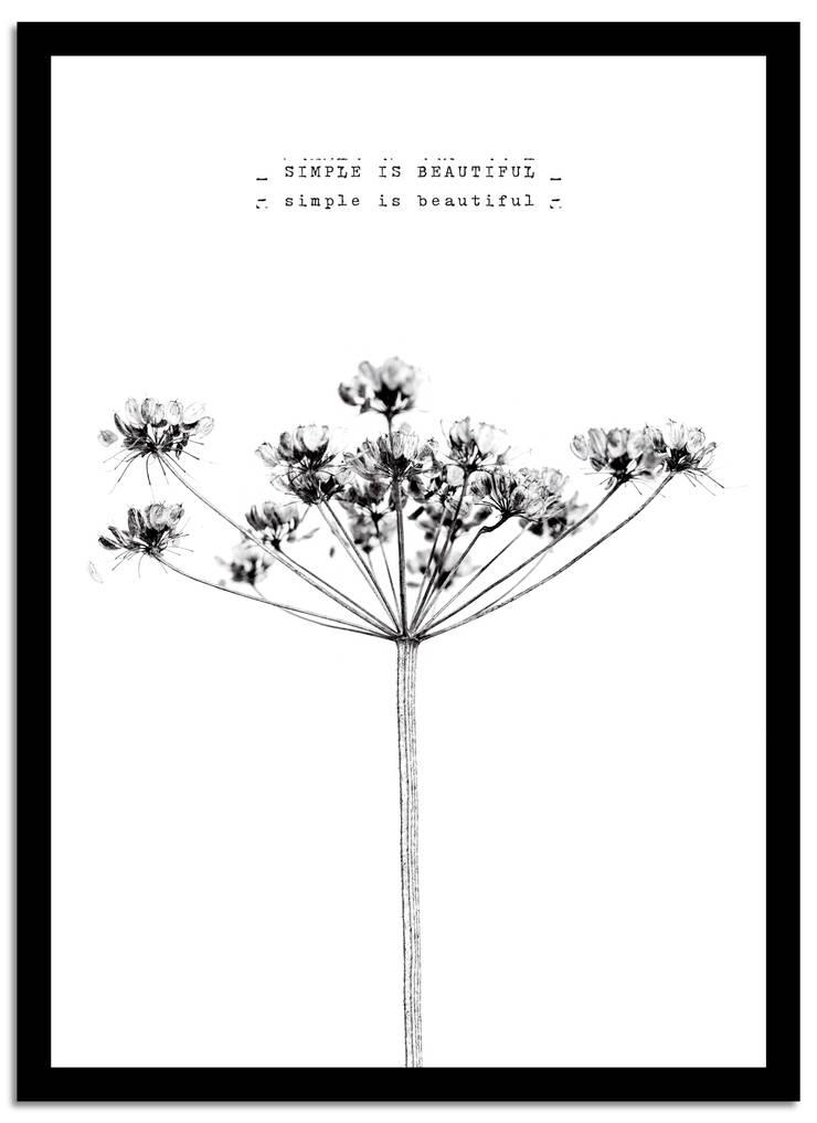 Poster Simple is Beautiful:  Woonkamer door Puurrr