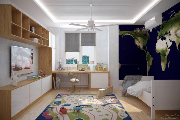 scandinavische Kinderkamer door Студия интерьерного дизайна happy.design
