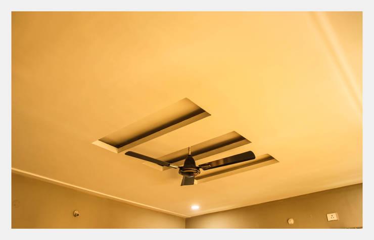 Villa at Appa Junction, Hyderabad.:  Corridor, hallway & stairs  by Happy Homes Designers