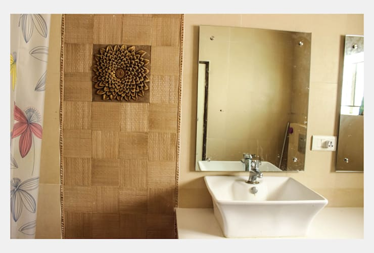 Villa at Appa Junction, Hyderabad.: mediterranean Bathroom by Happy Homes Designers
