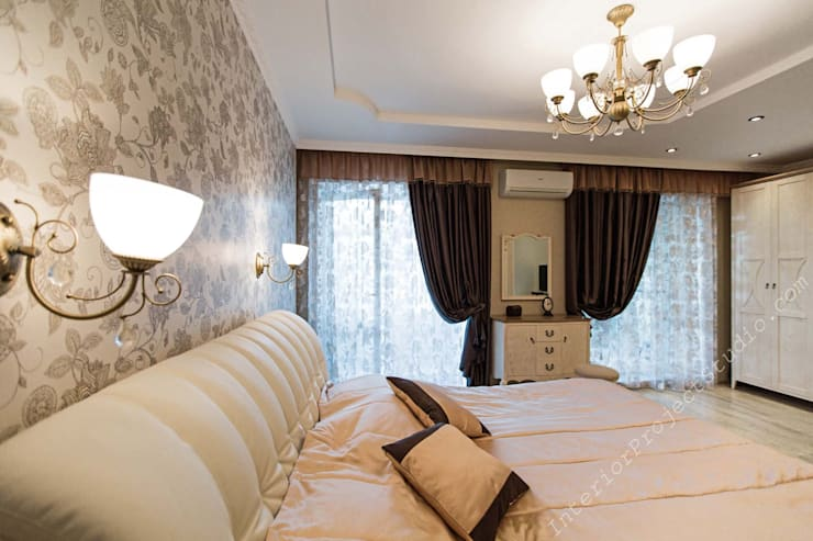 Спальня:  в . Автор – Аврора - частный дизайнер интерьера (ИП)