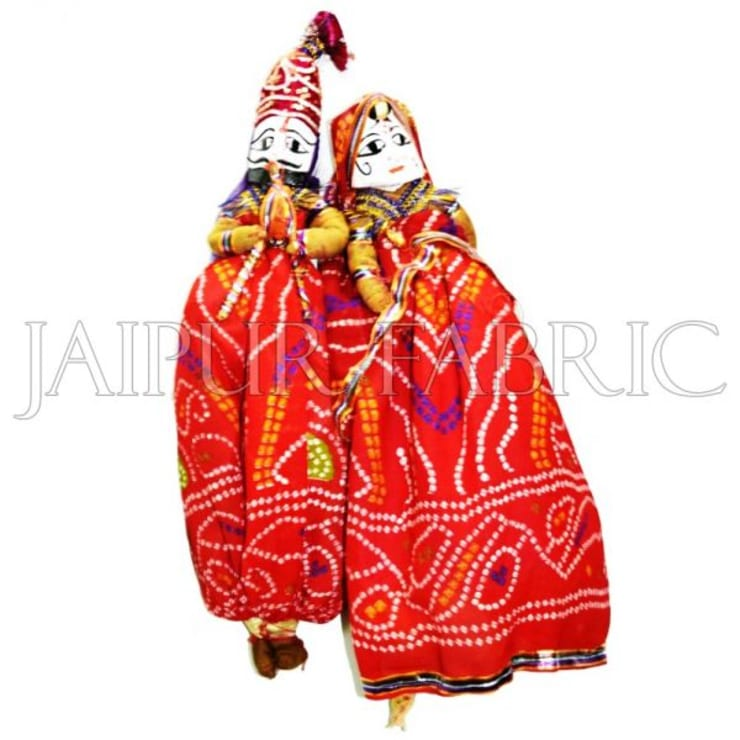 Rajasthani Handmade Puppets:  Artwork by Jaipur Fabric