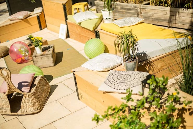 Coachella Party: Jardin de style de style eclectique par Happy Souls Garden