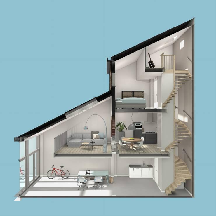 doorsnede woning:   door architectenburo frans van roy