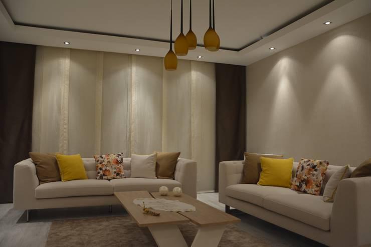 Deco Mimarlik – Özel Konut Tasarımı: modern tarz Oturma Odası