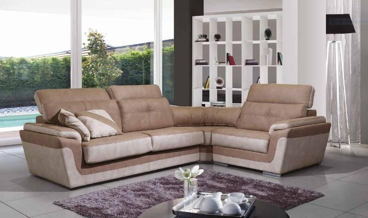 Sofás de canto Corner sofas www.intense-mobiliario.com  Dakar http://intense-mobiliario.com/product.php?id_product=6790: Sala de estar  por Intense mobiliário e interiores;